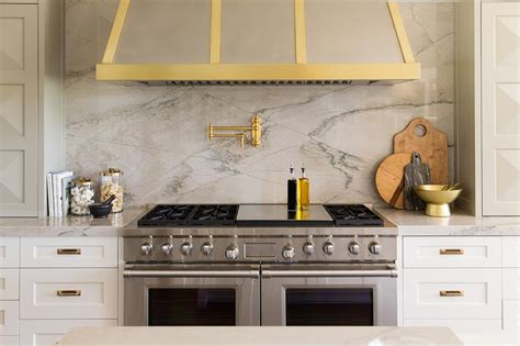 quartz backsplash white marble alternatives transitional kitchen