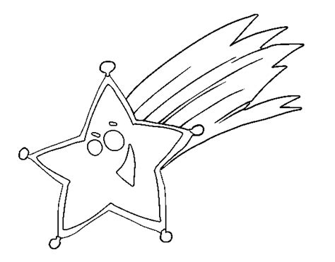 coloring page of a shooting star shooting star coloring page coloringcrew com