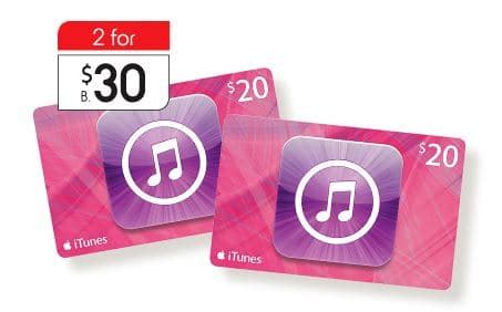 Kmart Itunes Gift Card - expired 2 x 20 itunes gift cards for 30 at kmart this week save 25 gift cards