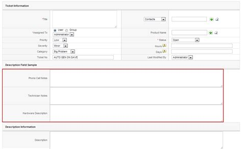layout editor vtiger vtiger experts how to create description type field one