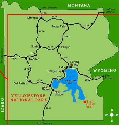 yellowstone park map yellowstone national park map outravelling maps guide