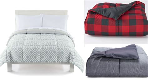 kohls reversible comforter the big one down alternative reversible comforter as low