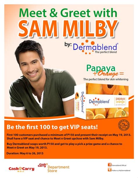 Meet Greet With Sam Milby By Dermablend Dishysammy Meet And Greet Flyer Template