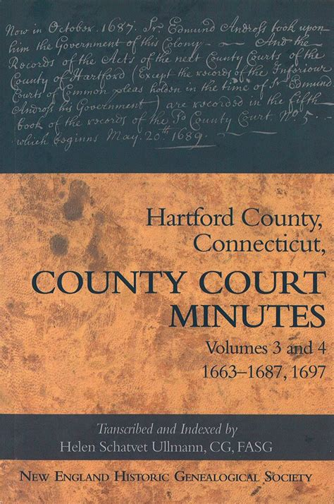 Hartford County Ct Court Records Hartford County Court Minutes Volumes 3 And 4 Americanancestors Org