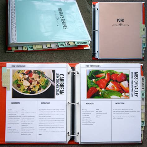 cookbook recipe template cookbook template on recipe binders recipe