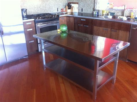 stainless steel kitchen work table island stainless steel kitchen island cart ikea hackers