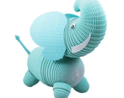 3d Paper Craft Ideas - 3d paper quilling elephant figures origami