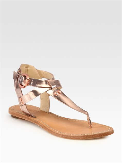 sigerson morrison sandals by sigerson morrison randy studded metallic leather