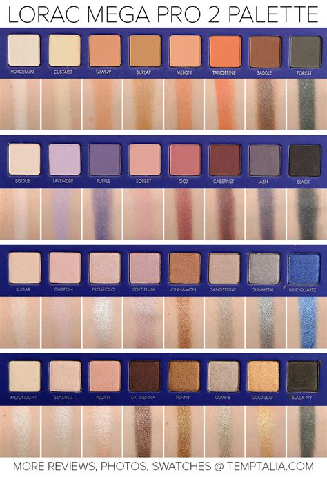 Lorac Eyeshadow Pro Palette 2 sneak peek lorac mega pro 2 palette photos swatches
