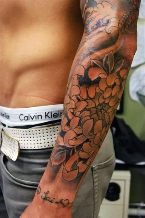 male flower tattoo designs 22 floral tattoos for