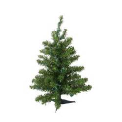 2 ft pre lit natural two tone pine artificial christmas
