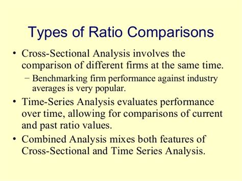 cross sectional ratio analysis financial statement analysis