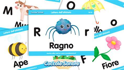 schede lettere alfabeto schede didattiche flashcards alfabeto coccole sonore