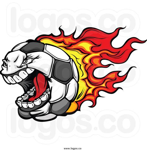 Free Clipart Flaming Soccer by Soccer Logo Clip 54