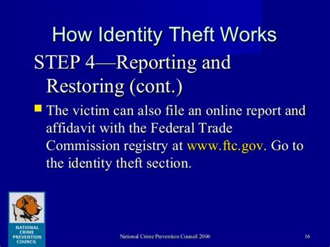 theft section identity theft and strategies for crime prevention