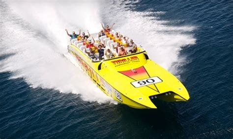 boat ride miami groupon up to half off thriller miami speedboat adventures
