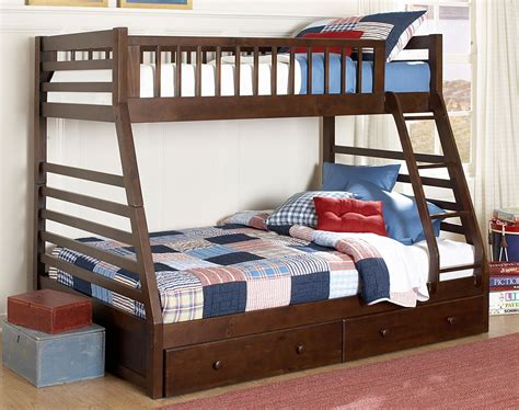 bunk bedroom sets starship bunk bed set chocolate cherry leon s