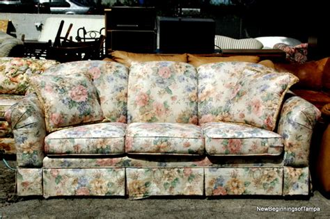 sofa flower couch floral print flower sofa photo picture image on