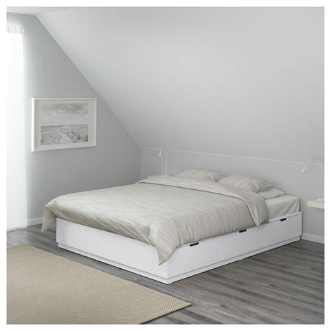 nordli bed nordli bed frame with storage white 140x200 cm ikea