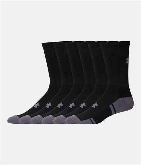 armour resistor crew socks s ua resistor iii crew socks 6 pack armour us