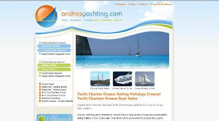 charter boat agents association andros yacht charter in greece