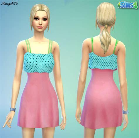 sims 4 custom content dresses cute sims 4 summer dress recolour sims 4 custom content