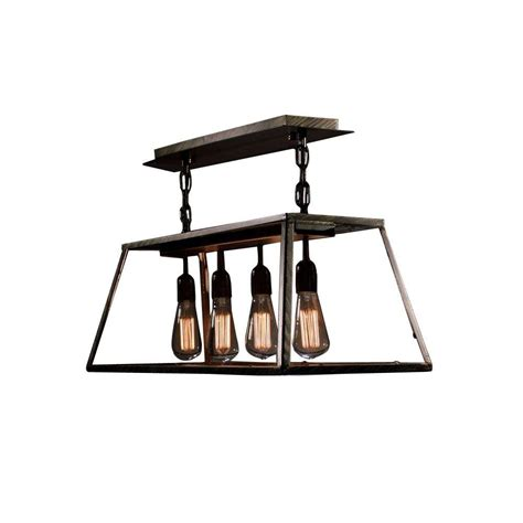 Edison Island Light Edison Island Collection 4 Light Black Indoor Hanging L Ld4011 The Home Depot