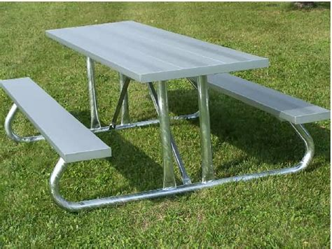 outdoor aluminum picnic table  builtrite bleachers