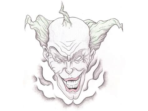 clown tattoo design bad evil clown design