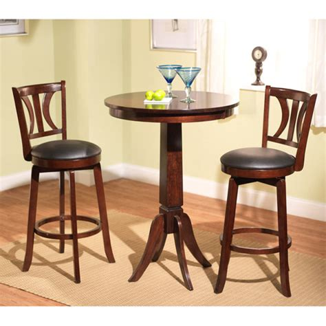pub dining set houston 3 pub dining set mahogany walmart