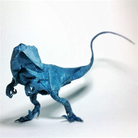 origami velociraptor 699 best outrageous origami images on paper