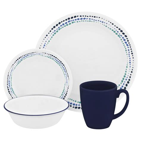 Bluss Set corelle 174 livingware blues 16 pc dinnerware set corelle