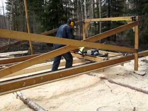 homemade swing blade sawmill homemade swingblade sawmill in sweden youtube