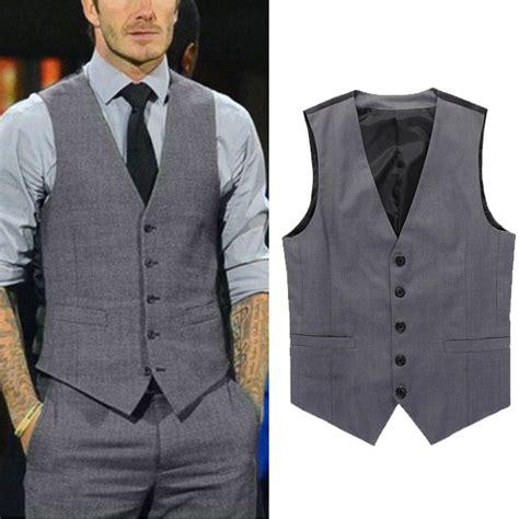 Rompi Cowok Set fashion casual suit vest slim dress formal waistcoat