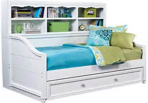 daybed with shelves gabriella winter white 3 pc bookcase from rooms to go