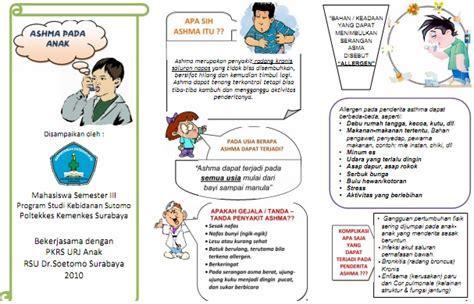 membuat brosur tentang penyakit asma kumpulan materi kebidanan sap dan leaflet asma pada anak