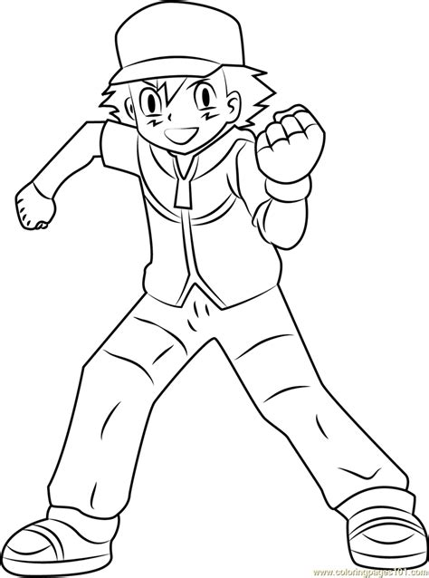ash and pikachu coloring pages printable pokmon