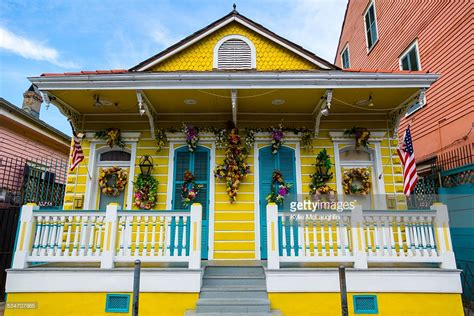 quarter house new orleans shotgun house french quarter new orleans stock photo getty images