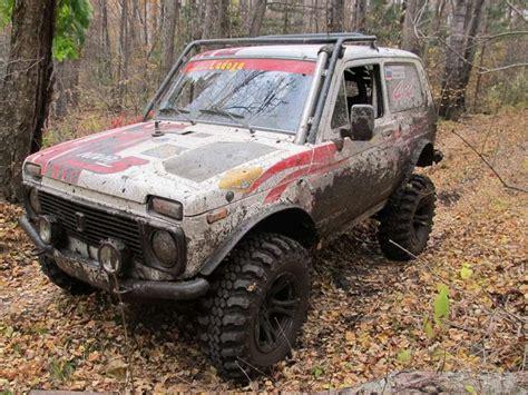 lada big 148 lada 4x4 niva with big wheels russian auto tuning