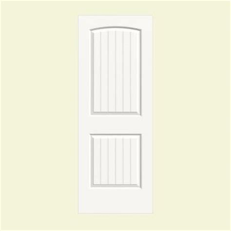 jeld wen smooth 2 panel arch painted molded single prehung jeld wen 28 in x 80 in molded smooth 2 panel arch plank