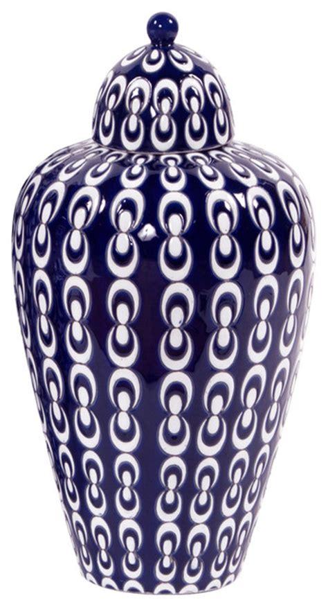 Navy Blue And White Vases Navy Blue And White Ceramic Vase Transitional Vases
