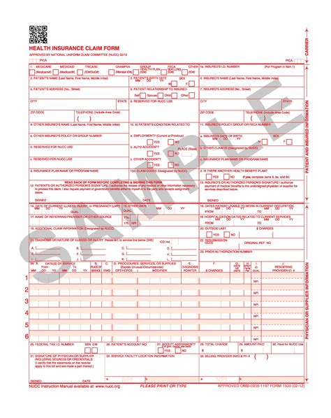 free hcfa 1500 claim form download