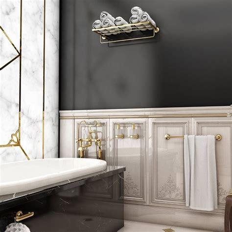 Handtuchhalter Zum Kleben 272 by Geesa Tone Gold Badetuchablage 60 Cm Mit Handtuchhalter