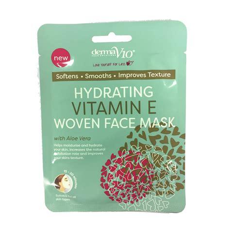 vitamin e hydrating dermav10 hydrating vitamin e woven mask 1 pcs 163 0 95