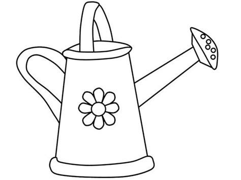 watering can outline www pixshark com images galleries