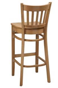 Wooden Bar Stool With Back Regal Seating Series 2423 Vertical Back Wooden Counter Height Bar Stool With Wooden Seat Bar