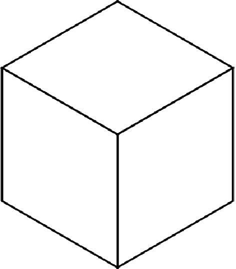 3 dimensional cube template 3d cube clipart best