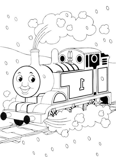 print download thomas the train theme coloring pages