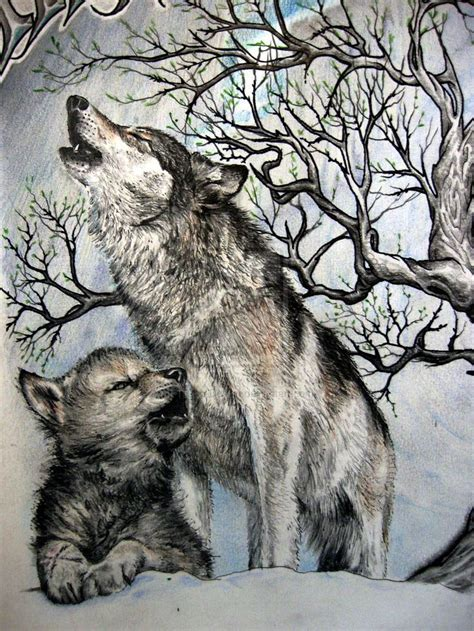 two wolves tattoo tattoos of baby wolves battle of two wolves detail by