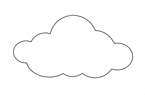 cloud mobile template 9 printable cloud templates free free